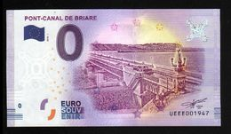 France - Billet Touristique 0 Euro 2018 N° 1947 (UEEE001947/5000) - PONT-CANAL DE BRIARE - EURO