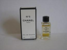 MINIATURE DE PARFUM N° 5  DE CHANEL EAU DE TOILETTE 4ML - Miniatures Modernes (à Partir De 1961)