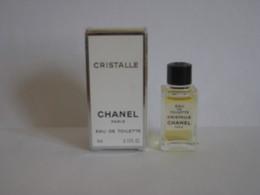 MINIATURE DE PARFUM CRISTALLE  DE CHANEL EAU DE TOILETTE 4ML - Miniatures Modernes (à Partir De 1961)