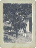 Photo Soldat à Cheval, Administrateur Colonial - Guerre, Militaire
