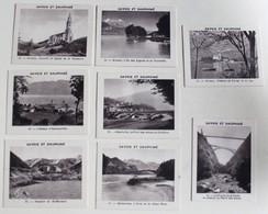 8 Chromos Albertville Annecy Sallanches Pont De La Caille Hospice St Bernard Savoie Et Dauphiné Antésite Boisson - Cromo