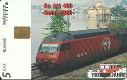 Swisscom: 12/97 150 Jahre Schweizer Bahnen - Bahn 2000 Lok Re 4/4 460 - Svizzera