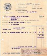 13 MARSEILLE FACTURE 1926 Le Détersif ARMA F. ARMANDON   * Z36 - 1900 – 1949