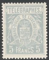 Luxemburg Yvert/Prifix Telegraphe 5 Sans Charnière Dent. 11x11 1/2 TB Cote EUR 120 (numéro Du Lot 256RL) - Telegraphenmarken