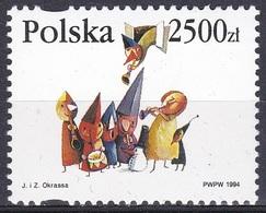 Polen Poland 1994 Religionen Christentum Weihnachten Christmas Noel Musik Music Figuren, Mi. 3516 ** - Ungebraucht