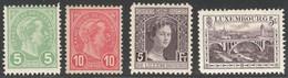 Luxemburg Yvert/Prifix 72/73*, 109*, 134* Dent. 12 1/2 TB Sans Dèfaut Cote EUR 67+ (numéro Du Lot 260EL) - 1895 Adolphe Right-hand Side