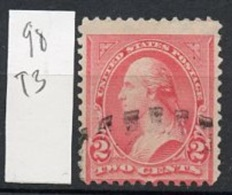 Etats Unis - Vereinigte Staaten - USA 1894 Y&T N°98t3 - Michel N°90a (o) - 2c G Washington - 1847-99 Emissions Générales