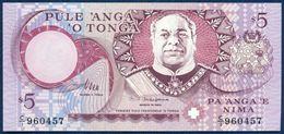 TONGA 5 PA'ANGA PAANGA P-33b 1995 UNC - Tonga