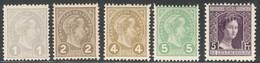 Luxemburg Yvert/Prifix 69/72 Et 109 Sans Charnière TB Cote EUR 140  (numéro Du Lot 244EL) - 1895 Adolphe Right-hand Side