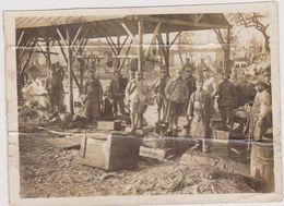 Abattoir,photo Ancienne,photographie,guerre,1917,ROMAINVILLE,93,ILE DE FRANCE,SEINE SAINT DENIS,MILITAIRE,SOLDAT,CASERNE - Places