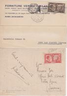 Regno Storia Postale - 2 Cartoline Con Francobolli Alleanza Italo-Tedesca Da Cent.20 E Cent.10 - 1900-44 Vittorio Emanuele III