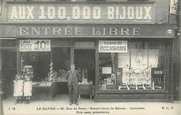C-18-364 : LE HAVRE. 60 RUE DE PARIS. MAGASIN AUX CENT MILLE BIJOUX. BIJOUTERIE. - Le Havre