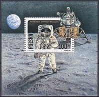 Polen Poland 1989 Geschichte Weltall Weltraum Kosmos Raumfahrt Mondlandung Moon Astronauten Eagle, Bl. 109 ** - Ungebraucht
