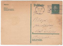 Postal Stationery Postkarte Travelled 1929 Munchen Pmk B180122 - Deutschland