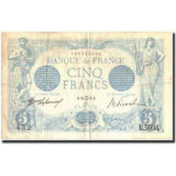 France, 5 Francs, 5 F 1912-1917 ''Bleu'', 1915, 1915-05-28, KM:70, TB+ - 1871-1952 Anciens Francs Circulés Au XXème