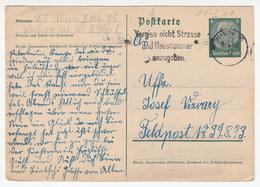 Postal Stationery Postkarte Travelled 1940 Wien Pmk B180122 - Deutschland