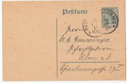 Postal Stationery Postkarte Travelled 1915 Reutlingen Pmk B180122 - Deutschland