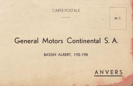Carte Postale General Motors Continental à Anvers Département Pièces Détachées - Cars