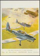 Advertising - De Havilland Chipmunk Basic Trainer - Vintage Ad Gallery Postcard - 1946-....: Modern Era