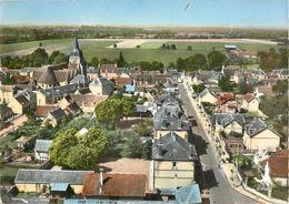 28 ARROU - EN AVION AU DESSUS DE  AVENUE DE LA GARE ( CPSM GRAND FORMAT  LAPIE N° 2K ) - France