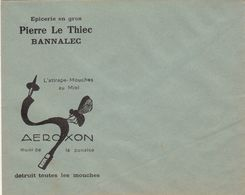Enveloppe Publicité AEROXON Pierre Le Thiec à Bannalec Attrape Mouche Au Miel - Publicités