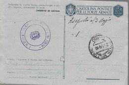 WWII Lettera 1943 Posta Militare 150 - Intendenza Italiana Tunisia - Africa - Weltkrieg 1939-45