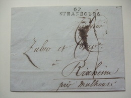 FRANCE - 1810 Wrapper - Strasbourg To Rixheim - Zuber And Cie Manufacture De Papier Peints Et Tissus - Marcophilie (Lettres)