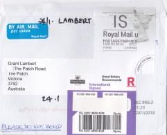 Great Britain 2018 International Signed R Letter To Australia - 1952-.... (Elizabeth II)