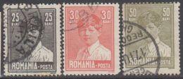 ROUMANIE 1928-29 3 TP Roi Michel 1er N° 336 336A 337 Y&T Oblitéré - 1918-1948 Ferdinand, Carol II. & Mihai I.