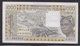 Côte D'Ivoire - 1000 Francs - 1985 -  Pick N°107Af - SPL - Côte D'Ivoire