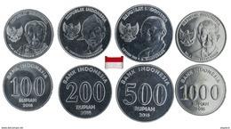 Indonésie - 100-200-500 & 1000 Rupiah 2016 (All UNC) - Indonesia