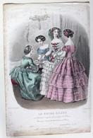 Gravure De Mode Le Guide SAJOU Héloïse Lelou Femmes Septembre 1858 - Estampes & Gravures