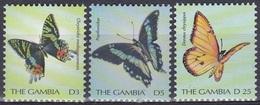 Gambia 2000 Tiere Fauna Animals Schmetterlinge Butterflies Insekten Insects, Aus Mi. 3763-3 ** - Gambia (1965-...)