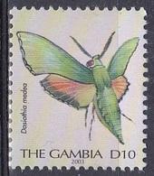 Gambia 2003 Tiere Fauna Animals Schmetterlinge Butterflies Insekten Insects, Mi. 3769 ** - Gambia (1965-...)