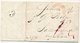 AMSTERDAM  - 29 MAR  ?  (1831) , Brief Nach Salzmunde - Mit Inhalt - Niederlande