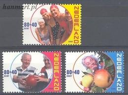 Netherlands 2000 Mi 1788-1790 MNH ( ZE3 NTH1788-1790 ) - Obst & Früchte