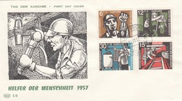 Sarre 1957 - FDC   Beneficenza Minatori - FDC