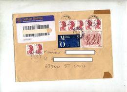 Lettre Suivie Digne Sur Carpeaux - Manual Postmarks
