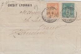 FRANCE - LETTRE CREDIT LYONNAIS LYON 28 MAI 91 POUR ORANGE VAUCLUSE  / 1 - Marcophilie (Lettres)