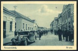 DUNASZERDAHELY 1944. Régi Képeslap, Automobillal       ## - Ungarn