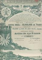 """MINES DE FER DE ROUINA """" ALGERIE"""" -ACTION ILLUSTREE DE 250 FRS - ANNEE 1913 - Mines"""