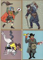 4 CP-Poketzusteller 1895-Thurn Und Taxisscher Postreiler Im 18 Jahrundert-Briefbote Im 15 Jahrhundert-Facteur   (102011) - Illustratoren & Fotografen