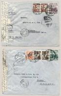 Egypt - 1954 -2x Censored Commercial Covers To Tilburg / Nederland - Egypte
