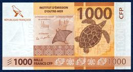 FRENCH PACIFIC TERRITORIES 1000  FRANCS P-6 TURTLE BIRD 2014 UNC - Territoires Français Du Pacifique (1992-...)