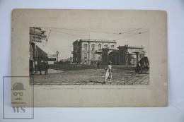 Old Postcard Egypt - Alexandria - Ramleh Station And Italian Consulate - Alejandría