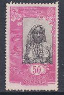 Cote Des Somalis N° 95 (.)  Série Papier Couché :  50  C. ,neuf Sans Gomme Sinon  TB - Französich-Somaliküste (1894-1967)