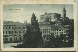 ITALIA - UDINE , IL CASTELLO, VIAGGIATA K.u.K. RESERVESPITAL KUTTEMBERG CENSURE - Udine