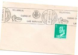 Carta Con Matasellos Commemorativo Villareal Ciudad De Las Naranjas. - 1981-90 Covers