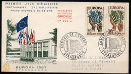 Enveloppes 1er Jour - Conseil De L'Europe - 1957 - STRASBOURG - Europa-CEPT