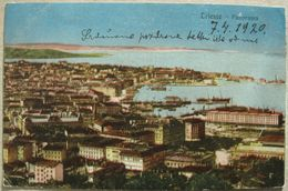 ITALIA - TRIESTE , PANORAMA , VIAGGIATA 1920 - Trieste